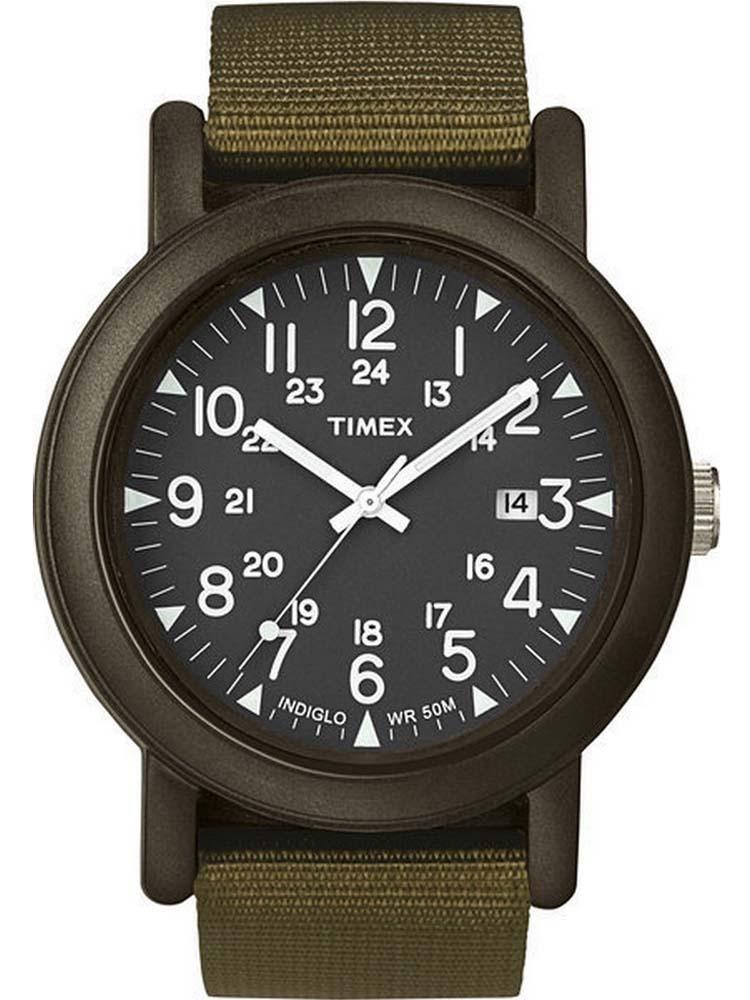 Наручные часы мужские Timex. T2N363T2N363Корпус 40 мм, 24- часовой формат времени, индекс даты, ремешок текстильный, водозащита 5 АТМ, подсветка INDIGLO