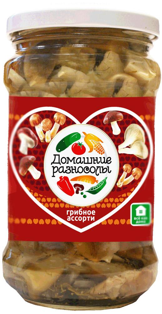 Домашние разносолы грибное ассорти, 314 мл0405212052330000Маринованное грибное ассорти можно подавать к столу в качестве самостоятельной начинки. Помимо того его используют как ингредиент для приготовления салатов, закусок, супов, основных блюд и даже выпечки. В Италии маринованное грибное ассорти добавляют в процессе приготовления таких знаменитых национальных блюд как пицца или паста.