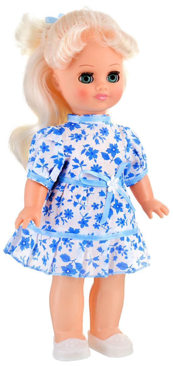 Весна Кукла озвученная Наталья цвет одежды голубой белыйВ645/оОчаровательная кукла Весна Наталья сможет стать настоящей подружкой для ребенка. У куклы зеленые глаза и роскошные светлые волосы. На ней надеты милое платьице в цветочек и белые туфельки, а ее образ дополнен голубым бантиком на голове. У Натальи закрываются глазки, и она умеет разговаривать. При нажатии на звуковое устройство, вставленное в спинку, кукла произносит различные фразы: Мама, мама; Улыбнись; Завяжи мне бантик; Хочу гулять; Дай мне конфетку!; Расскажи сказку!; Хочу спать; Спокойной ночи. Наличие элементов одежды, которые легко снимаются и надеваются, разнообразят возможности сюжетно-ролевых игр с этой куклой, в процессе которых развивается мелкая моторика и творческое воображение ребенка. Порадуйте свою принцессу таким прекрасным подарком! Милая игрушка научит ребенка доброте и заботе о других. Для работы игрушки рекомендуется докупить 3 батарейки LR44/AG13/СЦ357 (товар комплектуется демонстрационными).