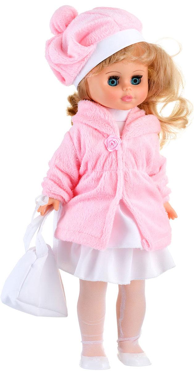 Весна Кукла озвученная Оля цвет одежды белый розовыйВ1955/оМилая кукла Весна Оля сможет стать настоящей подружкой для ребенка. У куклы небесно-голубые глаза и длинные светло-русые локоны. На ней надет костюмчик из блузки, юбки, шубки и берета. На ногах - белые колготки из сетки-стрейч и туфельки. В руке у куклы - сумочка. У Оли закрываются глазки, и она умеет разговаривать. При нажатии на звуковое устройство, вставленное в спинку, кукла произносит различные фразы: Привет, давай потанцуем; Я люблю музыку; Возьми меня за ручки; Покружись со мной; Как здорово!; А сейчас спой мне песенку; А другую песенку; Мне очень нравится!. Наличие элементов одежды, которые легко снимаются и надеваются, разнообразят возможности сюжетно-ролевых игр с этой куклой, в процессе которых развивается мелкая моторика и творческое воображение ребенка. Порадуйте свою принцессу таким прекрасным подарком! Милая игрушка научит ребенка доброте и заботе о других. Для работы игрушки рекомендуется докупить 3 батарейки LR44/AG13/СЦ357 (товар...
