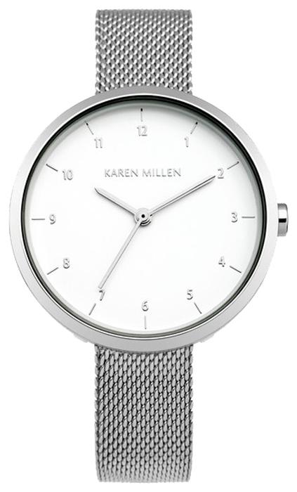 Наручные часы женские Karen Millen, цвет: серебряный. KM135SMKM135SMТрехстрелочный механизм Miyota 2035; IP Silver-покрытие; Полированный корпус; Размер корпуса 30,5 мм; Минеральное стекло; Бледно-серебристый циферблат; Mesh-браслет из нержавеющей стали; Водозащита 3 АТМ