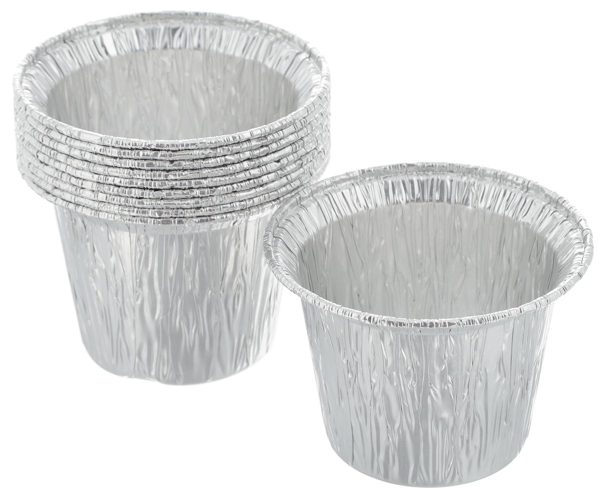 Форма для выпечки Paterra, цвет: серебристый, 5,5 х 7,5 х 7,5 см, 10 шт402-422Формы для выпечки Paterra изготовлены из алюминия. Пища в таких формах не пригорает и не прилипает к стенкам, готовое блюдо легко вынимается. Изделия прекрасно подойдут для выпечки и запекания, а также для замораживания. Такие формы станут полезным приобретением для вашей кухни. Формы выдерживают любые температурные режимы духовых шкафов. Размер формы: 5,5 х 7,5 х 7,5 см.