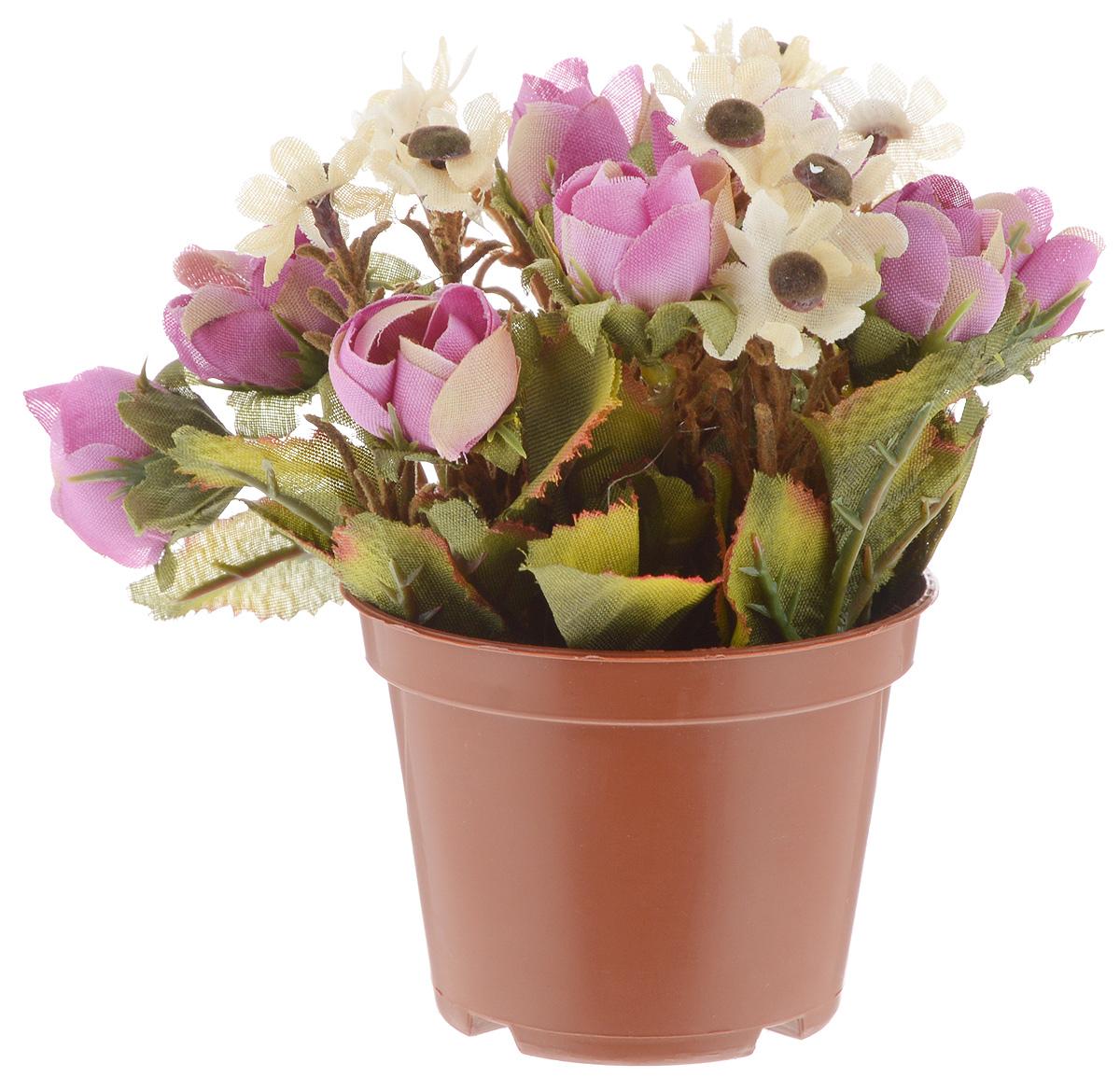 Растение искусственное для мини-сада Bloom`its, цвет: фиолетовый, зеленый, коричневый, высота 13 см804833_сиреневый, белыйИскусственное растение Bloomits поможет создать свой собственный мини-сад. Заниматься ландшафтным дизайном и декором теперь можно, даже если у вас нет своего загородного дома, причем не выходя из дома. Устройте себе удовольствие садовода, собирая миниатюрные фигурки и составляя из них различные композиции. Объедините миниатюрные изделия в емкости (керамический горшок, корзина, деревянный ящик или стеклянная посуда) и добавьте мини-растения. Это не только поможет увлекательно провести время, раскрывая ваше воображение и фантазию, результат работы станет стильным и необычным украшением интерьера.