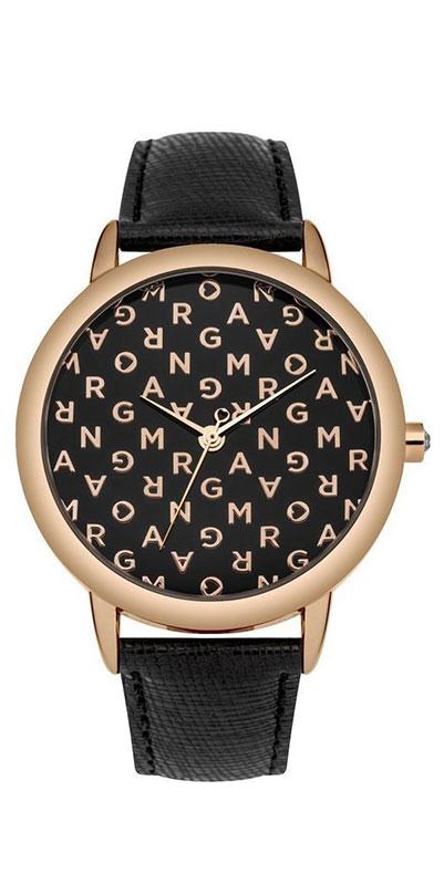 Наручные часы женские Morgan, цвет: черный. M1258BRGM1258BRG3-стрелочный механизм PC21; IP Rose Gold-покрытие; Размер корпуса 31 мм; Минеральное стекло; Глянцевый черный циферблат с буквами цвета розового золота; Украшены кристаллами; Черный кожаный ремешок с сафьяновой обработкой; Водозащита 3 ATM