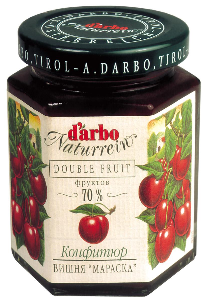 Darbo конфитюр вишня мараска, 200 г22211Не содержит консервантов и красителей. В 1879 году Рудольф Дарбо основал предприятие, которое стало одним из самых успешных в Австрии - A. Darbo AG в Тироле. В 1997 году ему было присуждено звание лучшей Тирольской торговой марки. Конфитюры DArbo экспортируются более чем в 40 стран мира. По всему миру брэнд DArbo Naturrein гарантирует высокое качество конфитюров, меда и компотов. Для DArbo Naturrein используются только свежие фрукты и ягоды из самых лучших регионов мира. Компания покупает розовые абрикосы в Венгрии, киви в Новой Зеландии, черную вишню в Швейцарии, бузину в Сирии и клюкву в Швеции. Многолетний опыт и связи среди компаний, торгующих фруктами, позволяют DArbo стоять в первых рядах при покупке высококачественных фруктов.