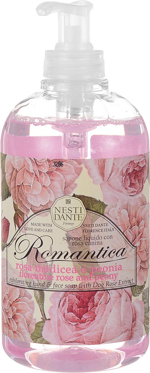 Nesti Dante Жидкое мыло Romantica. Флорентийская роза и пион, 500 мл5046106_роза/пион