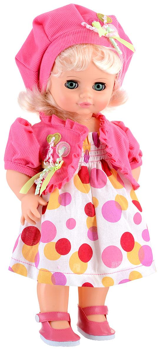 Весна Кукла озвученная Инна цвет одежды белый розовый красныйВ2239/о_розовыйМилая кукла Весна Инна сможет стать настоящей подружкой для ребенка. У куклы зеленые глаза и мягкие светлые волосы. На ней надеты болеро, берет, сарафанчик в горошек и башмачки. У Инны закрываются глазки, и она умеет разговаривать. При нажатии на звуковое устройство, вставленное в спинку, кукла произносит различные фразы: Я твоя подружка; Здравствуй!; Давай дружить!. Наличие элементов одежды, которые легко снимаются и надеваются, разнообразят возможности сюжетно-ролевых игр с этой куклой, в процессе которых развивается мелкая моторика и творческое воображение ребенка. Порадуйте свою принцессу таким прекрасным подарком! Милая игрушка научит ребенка доброте и заботе о других. Для работы игрушки рекомендуется докупить 3 батарейки LR44/AG13/СЦ357 (товар комплектуется демонстрационными).