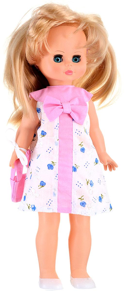 Весна Кукла озвученная Оля цвет одежды белый розовый голубойВ523/оКукла Весна Оля со звуковым устройством сможет не только развлечь девочку, но и побеседовать с ней. Кукла наряжена в очень милое платье и балетки, в руке она держит маленькую сумочку. Руки, ножки и голова куклы подвижные. Большие и красивые глаза обрамлены пушистыми ресничками и выглядят совсем как живые. Если Олю положить, то она закроет глазки. Длинные и мягкие на ощупь волосы куклы приятно трогать и расчесывать. Кукла умеет разговаривать. При нажатии на звуковое устройство, вставленное в спинку, кукла произносит несколько забавных фраз. Милая игрушка станет лучшей подружкой для девочки и научит ребенка доброте и заботе о других. Для работы игрушки рекомендуется докупить 3 батарейки LR44/AG13/СЦ357 (товар комплектуется демонстрационными).