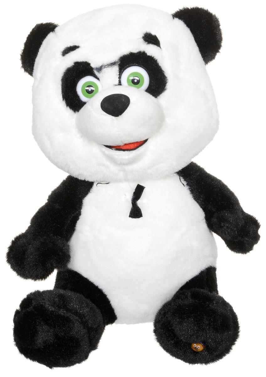 Мульти-Пульти Мягкая озвученная игрушка Панда 22 смF11-W1655Даже панда из экзотической страны стала одним из друзей Маши из мультфильма Маша и Медведь! Мягкая озвученная игрушка Мульти-Пульти Панда очарует вашего малыша своими зелеными глазками и милой, доброй мордочкой. Эта панда с радостью отправится в любое путешествие вместе с вашим ребенком, а в пути будет петь знакомые ему песенки, которым Маша успела научить панду. Рекомендуется докупить 3 батарейки напряжением 1,5V типа AG13/LR44 (товар комплектуется демонстрационными).