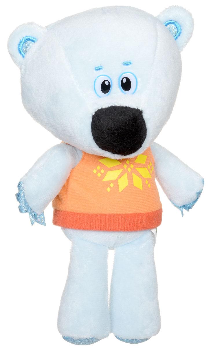 Мульти-Пульти Мягкая озвученная игрушка Медвежонок Белая Тучка 20 смV62076/20Компания Мульти-Пульти очень постаралась, чтобы медвежонок Белая Тучка из мультфильма Ми-ми-мишки пришел к ребенку в гости таким же, каким его привыкли видеть на экранах телевизоров. У игрушки такая же голубая шерстка, красивая яркая маечка и добрые глаза, говорит он тем же голосом, что и в мультфильме. Специальные гранулы, используемые при набивке игрушки, способствуют развитию мелкой моторики рук малыша. Игрушка работает от незаменяемых батареек.