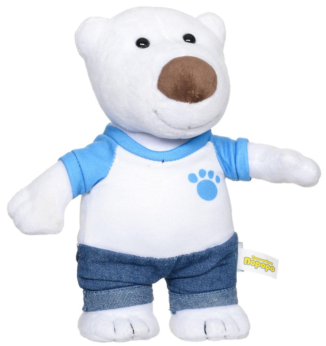 Мульти-Пульти Мягкая озвученная игрушка Полярный медведь Поби 22 смV92260/22Мягкая озвученная игрушка Мульти-Пульти представлена в виде полярного медведя из мультсериала Пингвиненок Пороро. Поби заинтересует ребенка не только своим забавным видом, но и звуковым эффектом - он умеет говорить несколько фраз из мультфильма. Медвежонок одет в симпатичную белую футболку и штанишки. Мягкие игрушки помогают познавать окружающий мир через тактильные ощущения, знакомят с животным миром нашей планеты, формируют цветовосприятие и способствуют концентрации внимания. Игрушка работает от незаменяемых батареек.