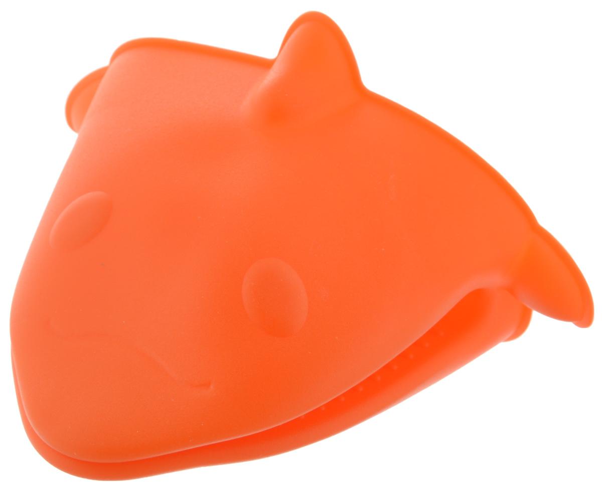 Прихватка Paterra, силиконовая, цвет: оранжевый, 13,5 х 11,5 см402-488_оранжевыйСиликоновая прихватка Paterra предназначена для защиты рук от ожогов при контакте с горячей посудой. Благодаря удобной форме прихватка не нарушает тактильных ощущений рук в процессе использования и при этом обеспечивает их надежную защиту от высоких температур (температурный диапазон изделия от -40°С до +240°С). Вы с легкостью сможете снять горячую посуду с плиты, извлечь форму для выпекания или противень из разогретого до максимальной температуры духового шкафа или разогретой микроволновой печи. Силиконовая прихватка не плавится, легко моется, не впитывает чужие запахи и жир, не теряет внешнего вида с течением времени, служит долго.