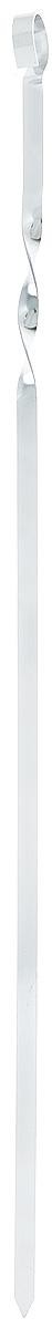 Шампур плоский ПИКНИЧОК, длина 60 см401-602Плоский шампур ПИКНИЧОК, изготовленный из высококачественной нержавеющей стали, предназначен для приготовления пищи из мяса, рыбы, птицы, овощей на открытом воздухе. Ручка-винт фиксирует шампур на мангале. Толщина шампура: 1,5 мм. Ширина шампура: 1 см.