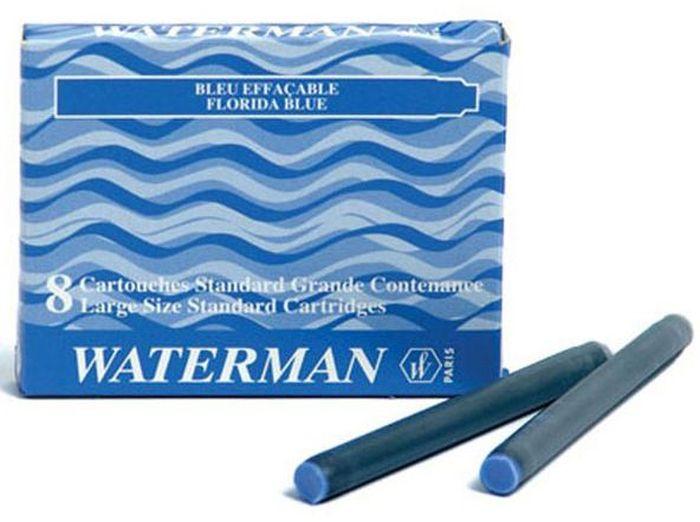 Waterman Катридж для ручки Long цвет синий 8 штWAT-S0110860Картридж с чернилами для перьевой ручки LONG, цвет синий, 8 шт. в картонной упаковке.