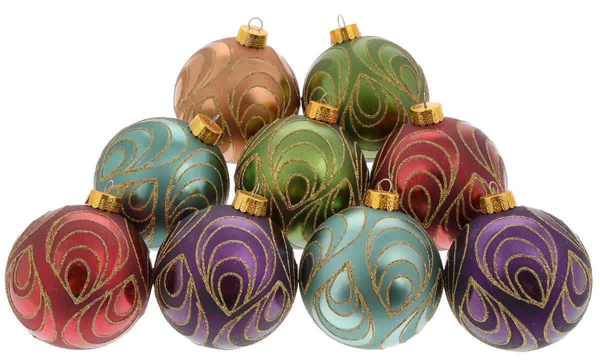 Набор новогодних подвесных украшений Christmas Time, 9 шт. 076348076348Набор подвесных украшений Christmas Time прекрасно подойдет для праздничного декора новогодней ели. Набор состоит из 9 украшений разных цветов в виде шаров. Изделия выполнены из пластика и декорированы блестками. Для удобного размещения на елке для каждого украшения предусмотрено ушко для петельки. Елочная игрушка - символ Нового года. Она несет в себе волшебство и красоту праздника. Создайте в своем доме атмосферу веселья и радости, украшая новогоднюю елку нарядными игрушками, которые будут из года в год накапливать теплоту воспоминаний. Откройте для себя удивительный мир сказок и грез. Почувствуйте волшебные минуты ожидания праздника, создайте новогоднее настроение вашим дорогим и близким. Диаметр украшения: 8 см.