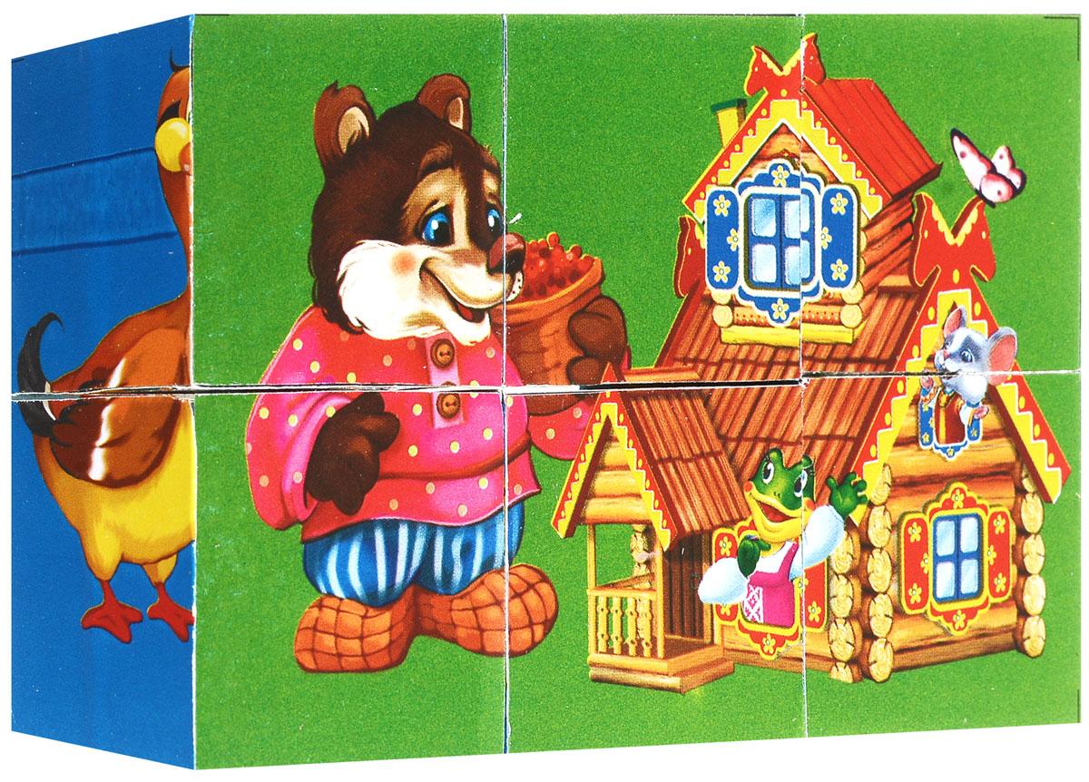 Играем вместе Кубики Русские сказки01406С помощью шести кубиков Играем вместе Русские сказки ребенок сможет собрать целых шесть красочных картинок с изображением сюжетов из любимых сказок. Кубики - самая популярная и самая необходимая игрушка для малыша. Игра с кубиками развивает зрительное восприятие, наблюдательность и внимание, мелкую моторику рук и произвольные движения. Ребенок научится складывать целостный образ из частей, определять недостающие детали изображения. Это прекрасный комплект для развлечения и времяпрепровождения с пользой для малыша.