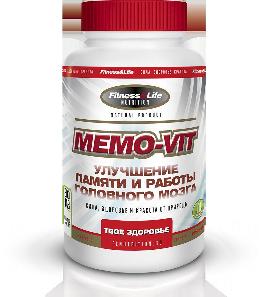 """Пищевая добавка Fitness&Life """"Memo-Vit"""", 300 таблеток, 300 таблеток"""