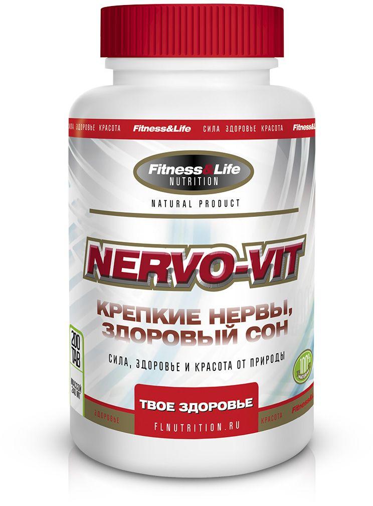 """Пищевая добавка Fitness&Life """"Nervo-Vit"""", 200 таблеток, 200 таблеток 4605920001197"""