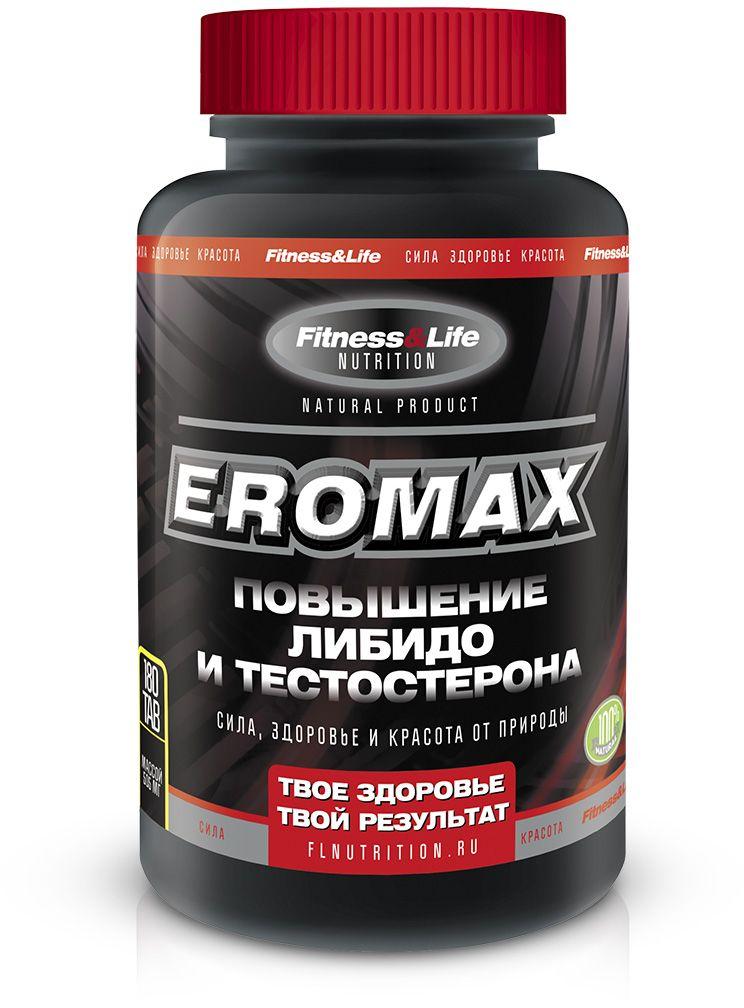 Пищевая добавка Fitness&Life Eromax, 180 таблеток, 180 таблеток4605920001296Повышение уровня либидо и тестостерона. Уникальный препарат, не имеющий аналогов в мире! Препарат Eromax создан для повышения уровня либидо (на 45%), эрекции (на 31%), тестостерона (на 41%), увеличения общего удовлетворения половыми отношениями (частота, интенсивность, продолжительность полового акта, острота ощущений при оргазме) Наименование ингредиентов Количество ингредиентов, мг/табл L-аргинин 150,0 Биологически активная добавка «Трутневый гомогенат с витамином В6» 50,0 Цветочная пыльца (обножка) 50,0 Экстракт листьев и стеблей эпимедиума 50,0 Порошок из корней женьшеня 45,0 Порошок из корневищ с корнями левзеи сафлоровидной 25,0 Цитрат цинка 4,5 Пиридоксина гидрохлорид (витамин В6) 0,3 Товар не является лекарственным средством. Товар не рекомендован для лиц младше 18 лет. Могут быть противопоказания и следует предварительно проконсультироваться со специалистом.