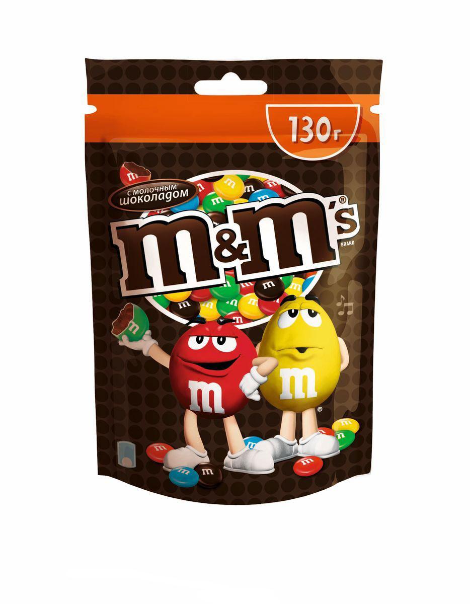 M&Ms драже с молочным шоколадом, 130 г79003022Драже M&Ms с молочным шоколадом, покрытое хрустящей разноцветной глазурью - это больше веселых моментов для вас и ваших друзей! Разноцветные драже можно съесть самому или разделить с друзьями. В любом случае, вкус отличного молочного шоколада подарит вам удовольствие и радость. Уважаемые клиенты! Обращаем ваше внимание, что полный перечень состава продукта представлен на дополнительном изображении.