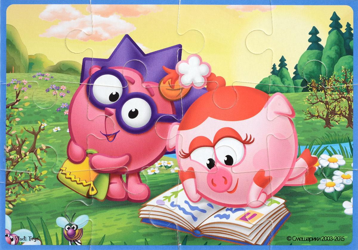 Vladi Toys Пазл для малышей Смешарики Ежик и НюшаVT1103-41Пазл для малышей Vladi Toys Смешарики. Ежик и Нюша состоит из крупных мягких деталей, подойдет для самых маленьких детей. Все детали легко соединяются между собой. Собрав этот пазл, включающий в себя 12 элементов, вы получите картинку с изображением двух персонажей популярного детского мультфильма Смешарики. Пазл научит ребенка усидчивости, умению доводить начатое дело до конца, поможет развить внимание, память, образное и логическое мышления, сенсорно-моторную координацию движения рук. Крупная и яркая форма собираемых элементов картинки способствует развитию мелкой моторики, которая напрямую влияет на развитие речи и интеллектуальных способностей. В дальнейшем хорошая координация движений рук поможет ребенку легко овладеть письмом.