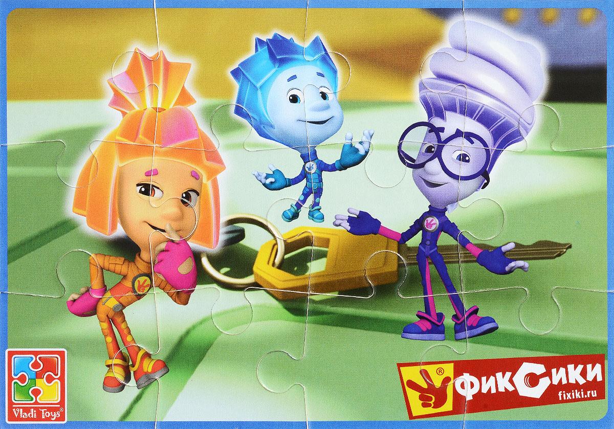 Vladi Toys Пазл для малышей Фиксики Игрек Нолик и СимкаVT1103-27Пазл для малышей Vladi Toys Фиксики. Игрек, Нолик и Симка придется по душе вашему малышу. Собрав этот пазл, включающий в себя 12 элементов, вы получите картинку с изображением трех персонажей популярного детского мультфильма Фиксики. Элементы пазла изготовлены из вспененного полимера с картонным покрытием, благодаря чему ребенку будет удобно собирать картинку. Мягкий пазл поможет развить у ребенка тактильные ощущения, мелкую моторику рук, пространственное воображение, а также внимательность, настойчивость и целеустремленность.