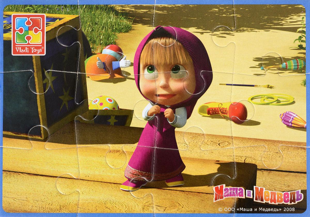 Vladi Toys Пазл для малышей МашаVT1103-32Пазл для малышей Vladi Toys Маша - наилучшее решение для развития вашего малыша. Все элементы легко соединяются между собой. Собрав этот пазл, включающий в себя 12 элементов, вы получите картинку с изображением героини мультфильма Маша и Медведь. Элементы пазла изготовлены из вспененного полимера с картонным покрытием, благодаря чему ребенку будет удобно собирать картинку. Мягкий пазл поможет развить у ребенка тактильные ощущения, мелкую моторику рук, пространственное воображение, а также внимательность, настойчивость и целеустремленность.