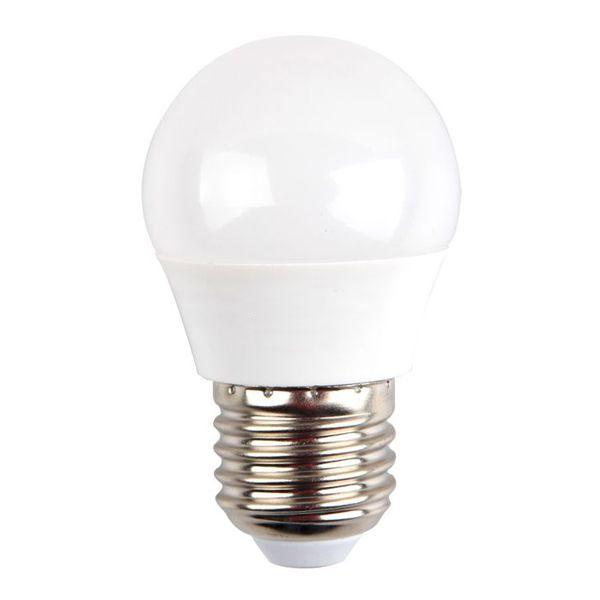 Лампа светодиодная Космос, GL45, белый свет, цоколь E27, 5WLksm_LED5wGL45E2745Светодиодная лампа Космос отличается низким энергопотреблением. Срок службы лампы 30000 часов, это в 30 раз дольше, чем у лампы накаливания. Устойчива к вибрациям и высоким перепадам температур. Обладает высокой механической прочностью и вибростойкостью. Характеризуется отсутствием ультрафиолетового и инфракрасного излучений. Эквивалентна лампе накаливания мощностью 60 Вт. Светит рассеянным светом как обычная лампа. Подходит для всех светильников. Номинальное напряжение: 220-240 В. Номинальная частота: 50/60 Гц. Рабочий ток: 0,04 А. Угол рассеивания: 270°. Срок службы: 30 000 ч. Стабильная работа при температуре: от 40°С до +50°С.
