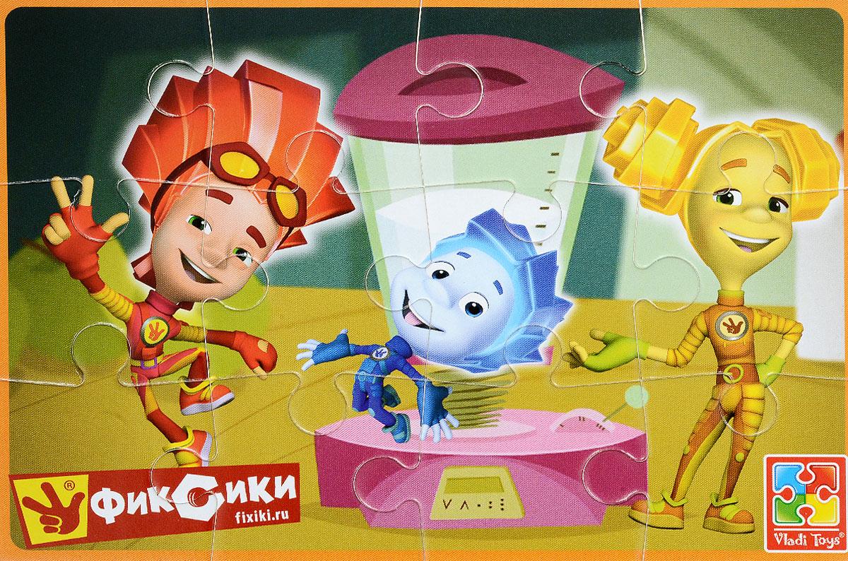 Vladi Toys Пазл для малышей Фиксики Файер Нолик и ШпуляVT1103-26Пазл для малышей Vladi Toys Фиксики. Файер, Нолик и Шпуля состоит из крупных мягких деталей, подойдет для самых маленьких детей. Все детали легко соединяются между собой. Собрав этот пазл, включающий в себя 12 элементов, вы получите картинку с изображением трех персонажей популярного детского мультфильма Фиксики. Пазл научит ребенка усидчивости, умению доводить начатое дело до конца, поможет развить внимание, память, образное и логическое мышления, сенсорно-моторную координацию движения рук. Крупная и яркая форма собираемых элементов картинки способствует развитию мелкой моторики, которая напрямую влияет на развитие речи и интеллектуальных способностей. В дальнейшем хорошая координация движений рук поможет ребенку легко овладеть письмом.