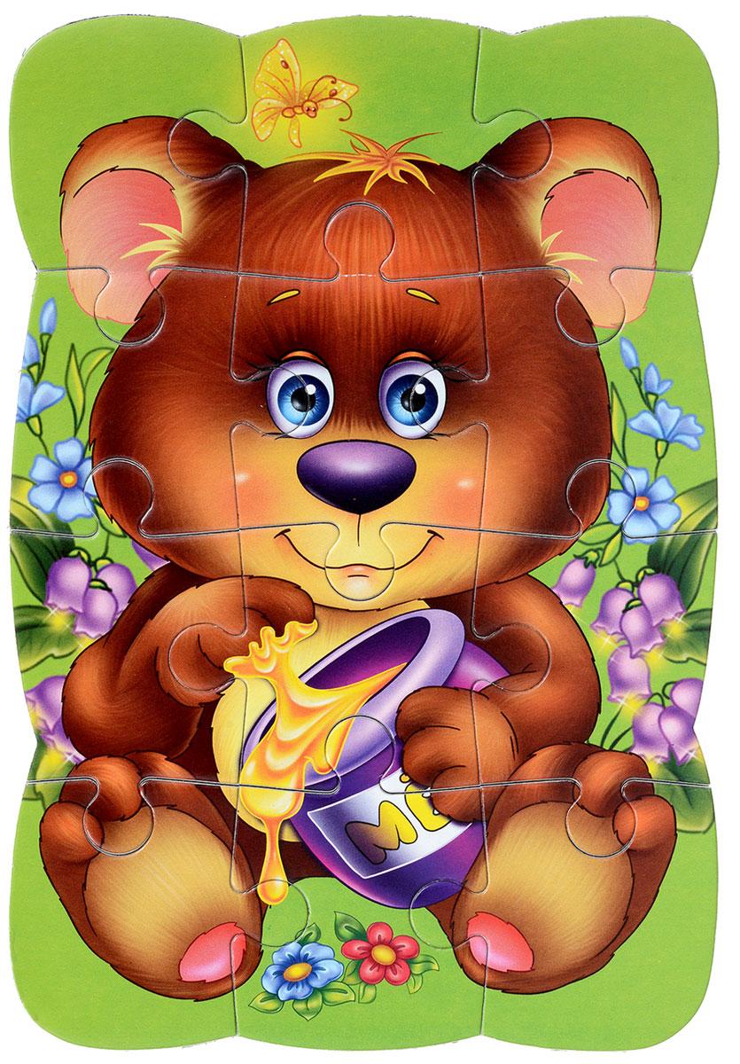 Vladi Toys Пазл для малышей МедвежонокVT3205-35Пазл для малышей Vladi Toys Медвежонок придется по душе вашему малышу. Собрав этот пазл, состоящий из 12 элементов, вы получите картинку с изображением милого медвежонка с баночкой меда. Пазл можно собирать на любой вертикальной магнитной поверхности. Пазл - великолепная игра для семейного досуга. Сегодня собирание пазлов стало особенно популярным, главным образом, благодаря своей многообразной тематике, способной удовлетворить самый взыскательный вкус. Для детей это не только интересно, но и полезно. Собирание пазла развивает мелкую моторику ребенка, тренирует наблюдательность, логическое мышление, знакомит с окружающим миром, с цветом и разнообразными формами.