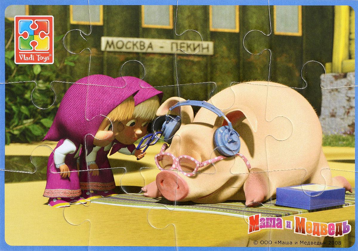 Vladi Toys Пазл для малышей Маша и поросенокVT1103-33Пазл для малышей Vladi Toys Маша и поросенок - наилучшее решение для развития вашего малыша. Все элементы легко соединяются между собой. Собрав этот пазл, включающий в себя 12 элементов, вы получите картинку с изображением героини мультфильма Маша и Медведь. Элементы пазла изготовлены из вспененного полимера с картонным покрытием, благодаря чему ребенку будет удобно собирать картинку. Мягкий пазл поможет развить у ребенка тактильные ощущения, мелкую моторику рук, пространственное воображение, а также внимательность, настойчивость и целеустремленность.