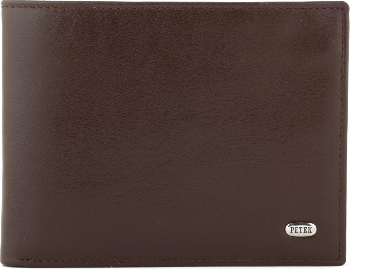 Портмоне мужское Petek 1855, цвет: коричневый. 113.000.222113.000.222 D.BrownНатуральная кожа, Гладкая, Горизонтальное, С отделением для монет / С отделением для кредиток