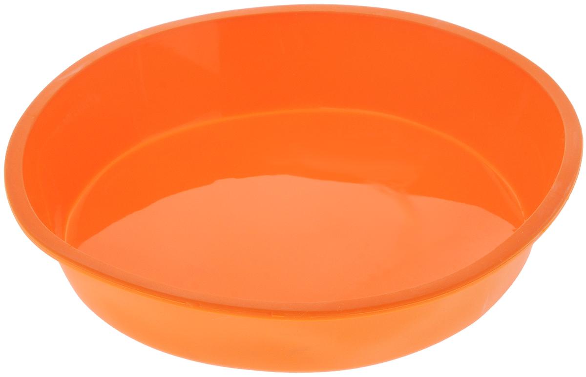 """Форма для выпечки Paterra """"Круг"""", силиконовая, цвет: оранжевый, диаметр 21 см 402-439_оранжевый"""