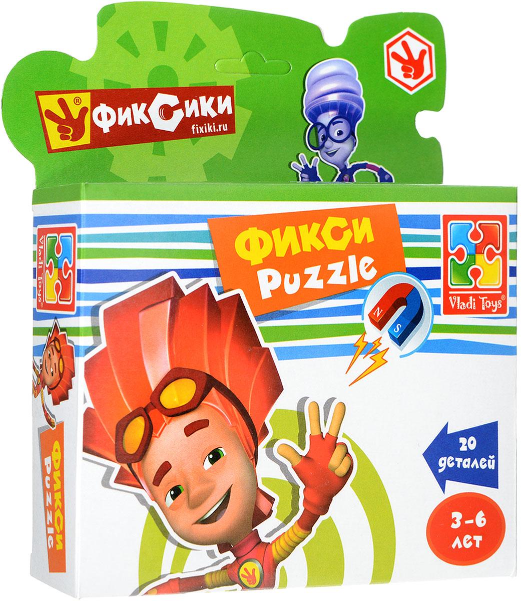 Vladi Toys Пазл для малышей Фиксики ФайерVT1504-27Пазл для малышей Vladi Toys Фиксики. Файер придется по душе вашему малышу. Собрав этот пазл, состоящий из 20 элементов, вы получите картинку с изображением героя всем известного мультфильма Фиксики. Пазл можно собирать на любой вертикальной магнитной поверхности. Пазл - великолепная игра для семейного досуга. Сегодня собирание пазлов стало особенно популярным, главным образом, благодаря своей многообразной тематике, способной удовлетворить самый взыскательный вкус. Для детей это не только интересно, но и полезно. Собирание пазла развивает мелкую моторику ребенка, тренирует наблюдательность, логическое мышление, знакомит с окружающим миром, с цветом и разнообразными формами.