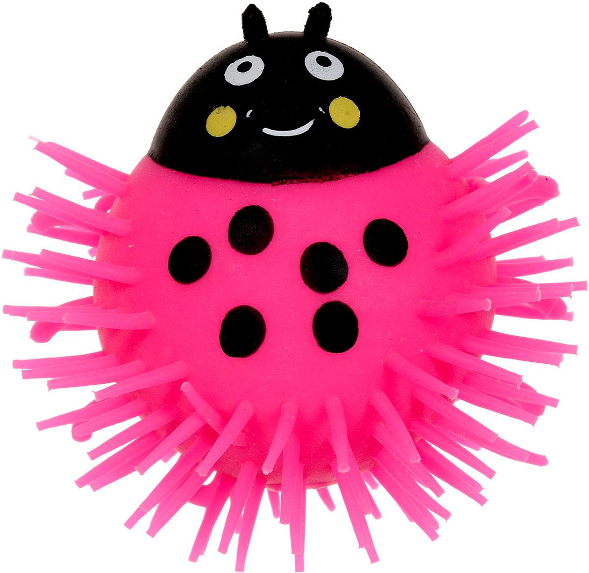 1TOY Игрушка-антистресс Ё-Ёжик Жук цвет розовыйТ56227_розовыйЁ-Ёжик - это яркая игрушка-антистресс - мягкая, приятная на ощупь и напоминающая свернувшегося ёжика. Взяв игрушку в руки, расстаться с ней просто невозможно! Её не только приятно держать в руках, если перекинуть игрушку из руки в руку, она начнёт мигать цветными огоньками. Игрушка розового цвета с черным рисунком и длинными мягкими колючками. Данная игрушка рассчитана на широкую целевую аудиторию, как детей от трёх лет, так и взрослых. Ё-Ёжик обязательно станет самым любимым забавным сувениром. Игрушка работает от незаменяемых батареек.