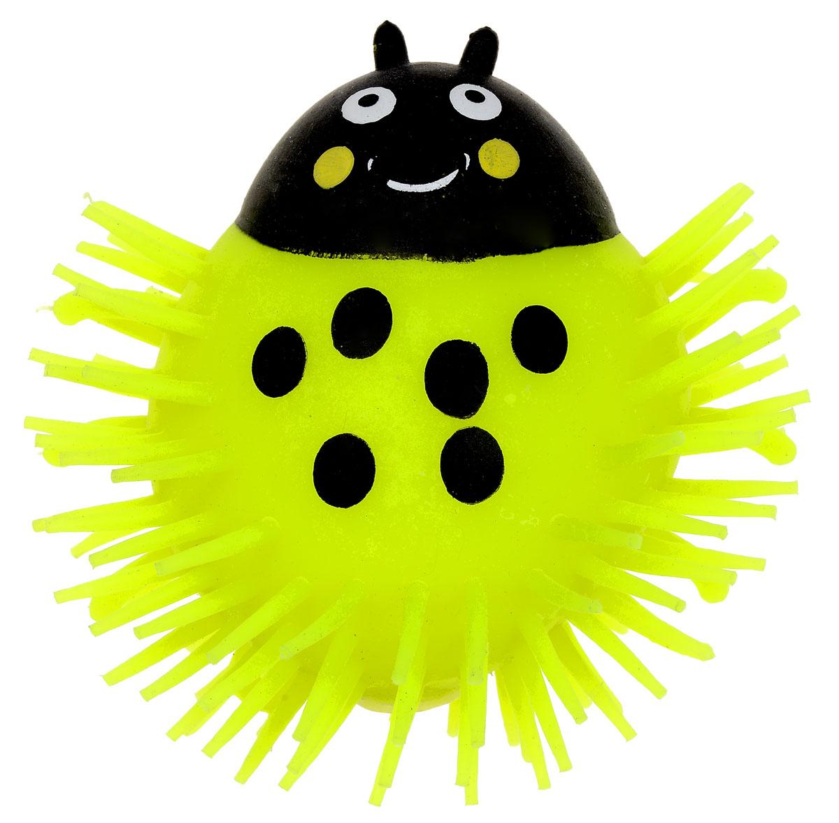 1TOY Игрушка-антистресс Ё-Ёжик Жук цвет желтыйТ56227_желтыйЁ-Ёжик - это яркая игрушка-антистресс - мягкая, приятная на ощупь и напоминающая свернувшегося ёжика. Взяв игрушку в руки, расстаться с ней просто невозможно! Её не только приятно держать в руках, если перекинуть игрушку из руки в руку, она начнёт мигать цветными огоньками. Игрушка желтого цвета с черным рисунком и длинными мягкими колючками. Данная игрушка рассчитана на широкую целевую аудиторию, как детей от трёх лет, так и взрослых. Ё-Ёжик обязательно станет самым любимым забавным сувениром. Игрушка работает от незаменяемых батареек.