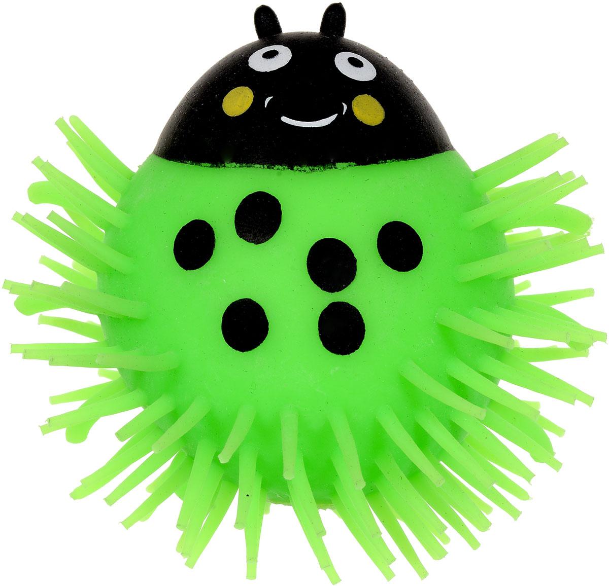1TOY Игрушка-антистресс Ё-Ёжик Жук цвет зеленыйТ56227_зеленыйЁ-Ёжик - это яркая игрушка-антистресс - мягкая, приятная на ощупь и напоминающая свернувшегося ёжика. Взяв игрушку в руки, расстаться с ней просто невозможно! Её не только приятно держать в руках, если перекинуть игрушку из руки в руку, она начнёт мигать цветными огоньками. Данная игрушка рассчитана на широкую целевую аудиторию, как детей от трёх лет, так и взрослых. Ё-Ёжик обязательно станет самым любимым забавным сувениром. Игрушка работает от незаменяемых батареек.