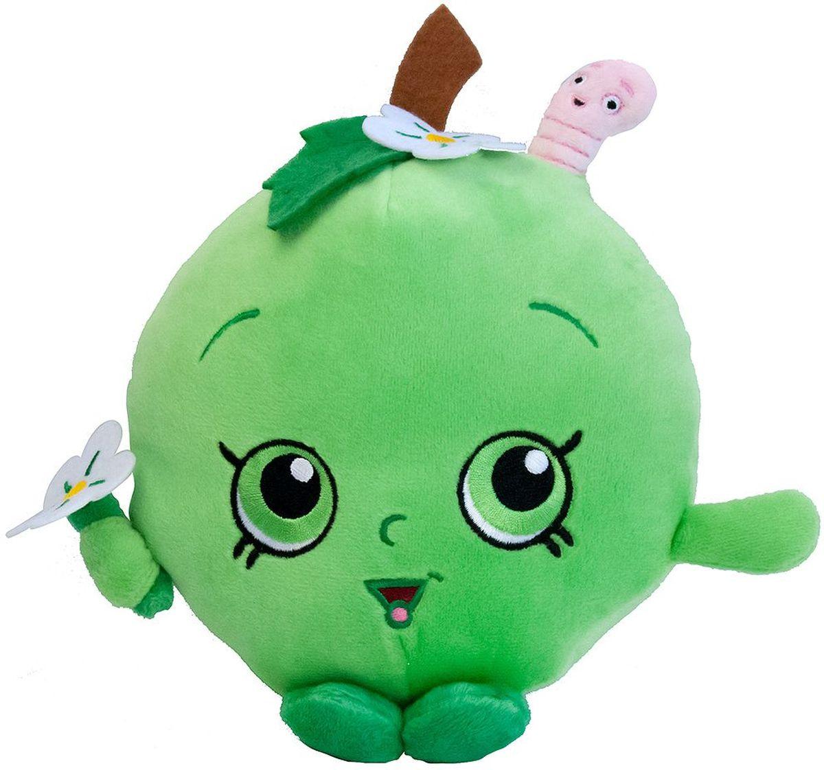 Shopkins Мягкая игрушка Яблочко Фло31633Забавная мягкая игрушка в виде Яблочка Фло из мультфильма Шопкинс порадует вашего ребенка и поможет придумать множество увлекательных игр, во время которых у малыша будут развиваться воображение, речь, тактильное восприятие и многое другое. Компактную игрушку очень удобно брать с собой в гости или в садик. Соберите всю коллекцию плюшевых игрушек Шопкинс, чтобы детские игры стали увлекательнее и разнообразнее! Мягкая игрушка Яблочко Фло ТМ Шопкинс высотой 20 см выполнена из нежного, приятного на ощупь плюша, плотно набита и декорирована высококачественной вышивкой. Товар сертифицирован. Упаковка - пакет.