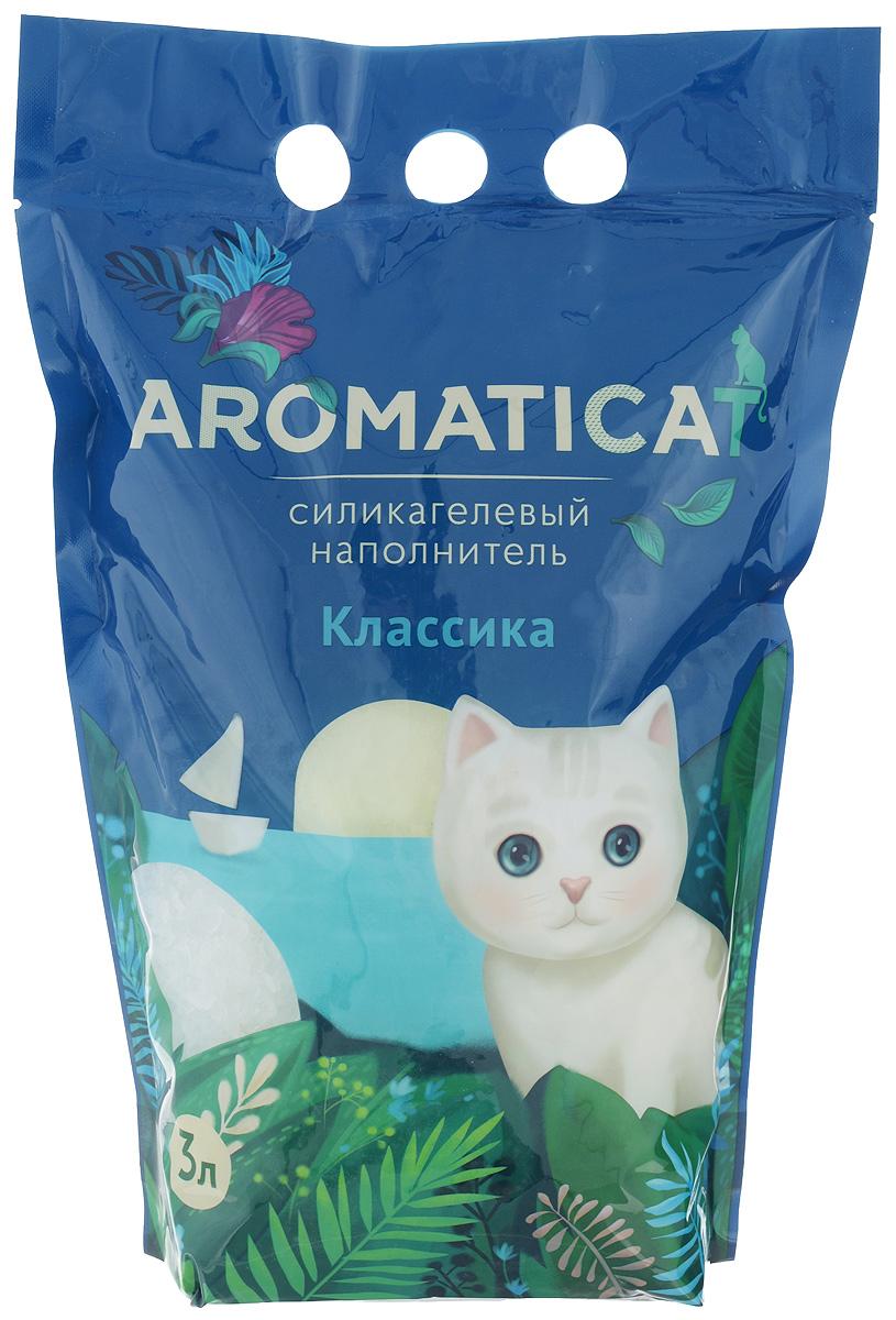 """Наполнитель для кошачьего туалета Aromaticat """"Классический"""", силикагелевый, 3 л 00-00001338"""