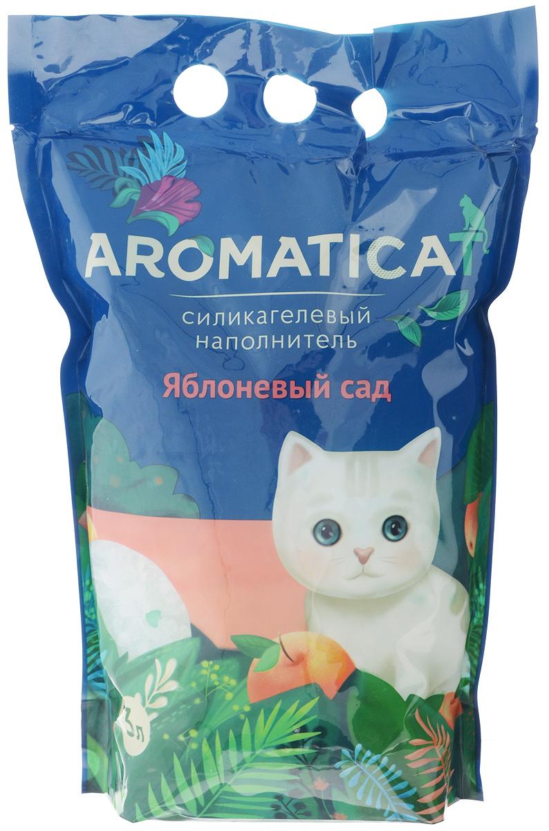 """Наполнитель для кошачьего туалета Aromaticat """"Яблоневый сад"""", силикагелевый, с ароматом яблока, 3 л 00-0000140"""