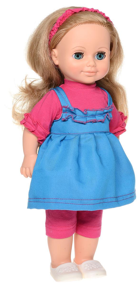 Весна Кукла озвученная Анна цвет наряда розовый синийВ884/оОчаровательная кукла Весна Анна покорит сердце любой девочки! У куклы голубые глаза и пышные светлые волосы. На ней надет прелестный летний наряд: розовые блузка, бриджи, синий сарафанчик и белые туфельки. На голове у куклы - текстильный ободок. У Анны закрываются глазки, и она умеет разговаривать. При нажатии на звуковое устройство, вставленное в спинку, кукла произносит следующие фразы: Привет! Давай потанцуем. Я люблю музыку. Возьми меня за ручки. Покружись со мной. Как здорово. А сейчас спой мне песенку. А другую песенку… Мне очень нравится. Благодаря играм с куклой, ваша малышка сможет развить фантазию и любознательность, овладеть навыками общения и научиться ответственности. Порадуйте свою принцессу таким прекрасным подарком! Милая игрушка станет лучшей подружкой для девочки и научит ребенка доброте и заботе о других. Для работы игрушки рекомендуется докупить 3 батарейки LR44/AG13/СЦ357 (товар комплектуется демонстрационными).