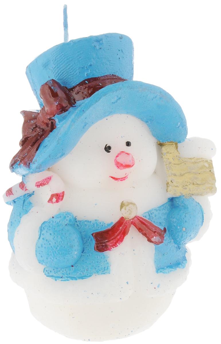 Свеча декоративная House & Holder Снеговик, цвет: белый, голубой, высота 11 см10PC001_белый, голубойСвеча House & Holder Снеговик, изготовленная из парафина, станет прекрасным украшением интерьера помещения в преддверии Нового года. Такая свеча создаст атмосферу таинственности и загадочности и наполнит ваш дом волшебством и ощущением праздника. Хороший сувенир для друзей и близких.