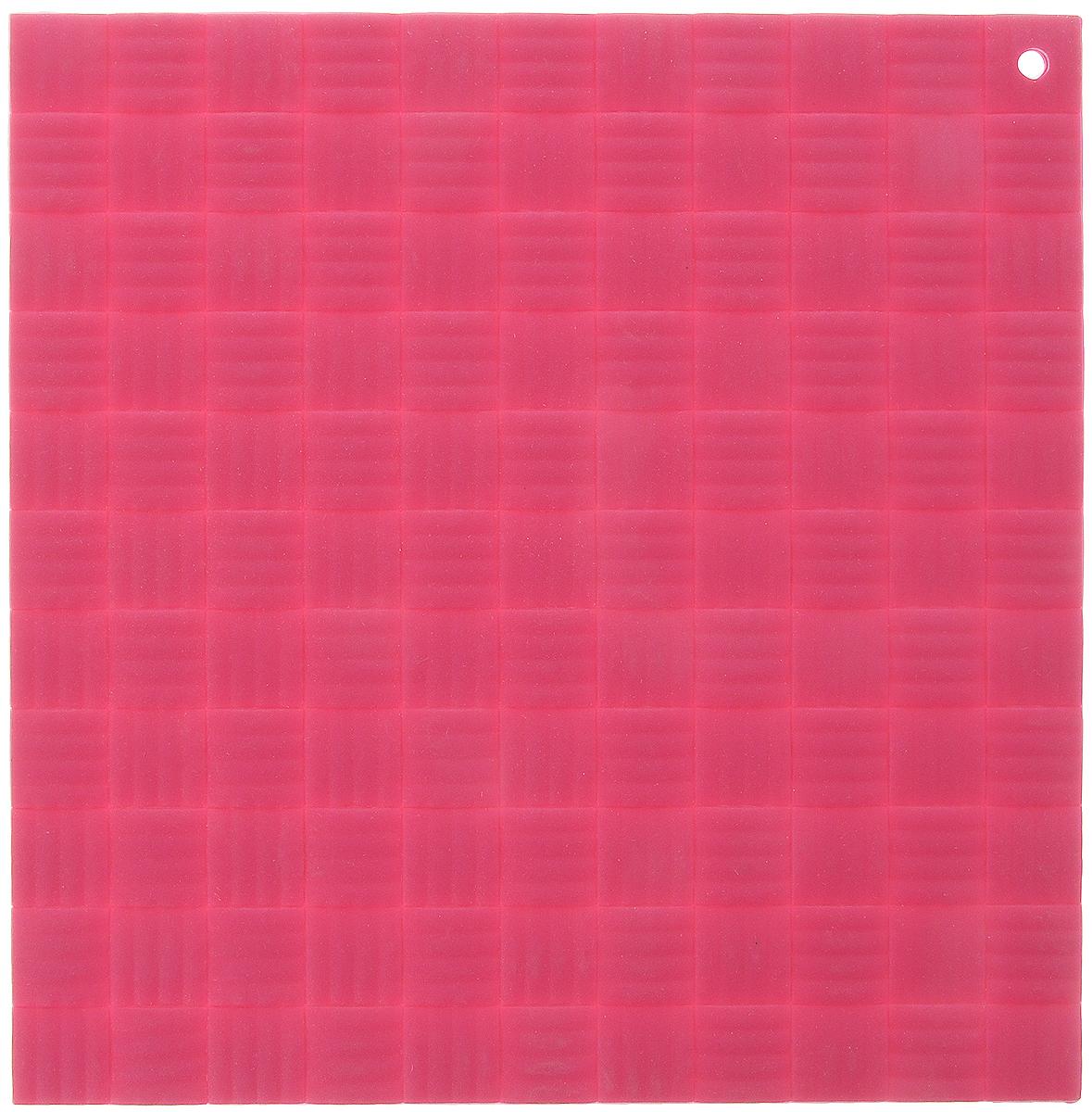 Подставка под горячее Paterra, силиконовая, цвет: малиновый, 17,5 х 17,5 см402-499_малиновыйПодставка под горячее Paterra изготовлена из силикона и оснащена специальным отверстием для подвешивания. Материал позволяет выдерживать высокие температуры и не скользит по поверхности стола. Каждая хозяйка знает, что подставка под горячее - это незаменимый и очень полезный аксессуар на каждой кухне. Ваш стол будет не только украшен яркой и оригинальной подставкой, но и сбережен от воздействия высоких температур.