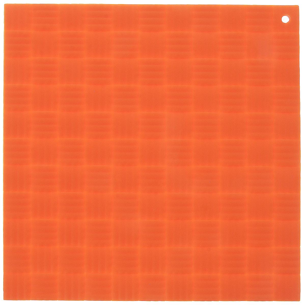 Подставка под горячее Paterra, силиконовая, цвет: оранжевый, 17,5 х 17,5 см402-499_оранжевыйПодставка под горячее Paterra изготовлена из силикона и оснащена специальным отверстием для подвешивания. Материал позволяет выдерживать высокие температуры и не скользит по поверхности стола. Каждая хозяйка знает, что подставка под горячее - это незаменимый и очень полезный аксессуар на каждой кухне. Ваш стол будет не только украшен яркой и оригинальной подставкой, но и сбережен от воздействия высоких температур.