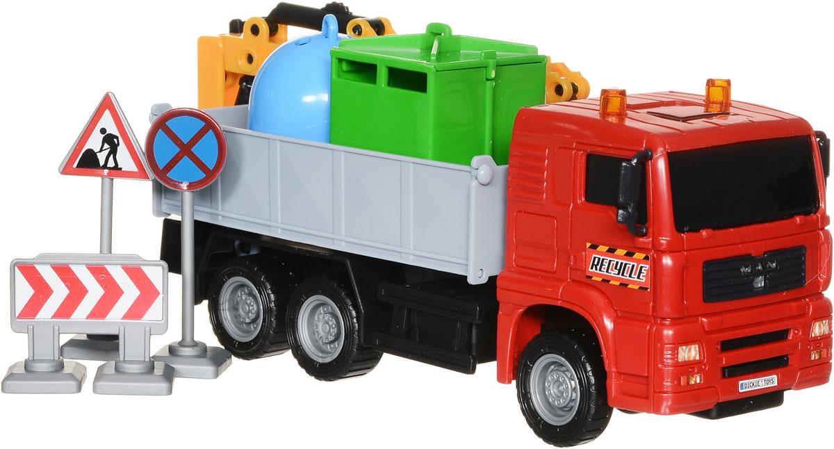 Dickie Toys Автокран цвет красный3744003_кран 1Автокран Dickie Toys - интересная машина для ребенка, который увлекается игровой спецтехникой. Машина имеет свободный ход движения и поворотную башню крана. Крюк у крана вытягивается на веревочке. Также в комплекте 4 дорожных знака и 2 контейнера для мусора. С автокраном Dickie Toys ваш ребенок сможет развернуть настоящую строительную площадку. Играя с такой машинкой ребенок развивает фантазию, пространственное мышление и адаптируется через игру к окружающему миру.