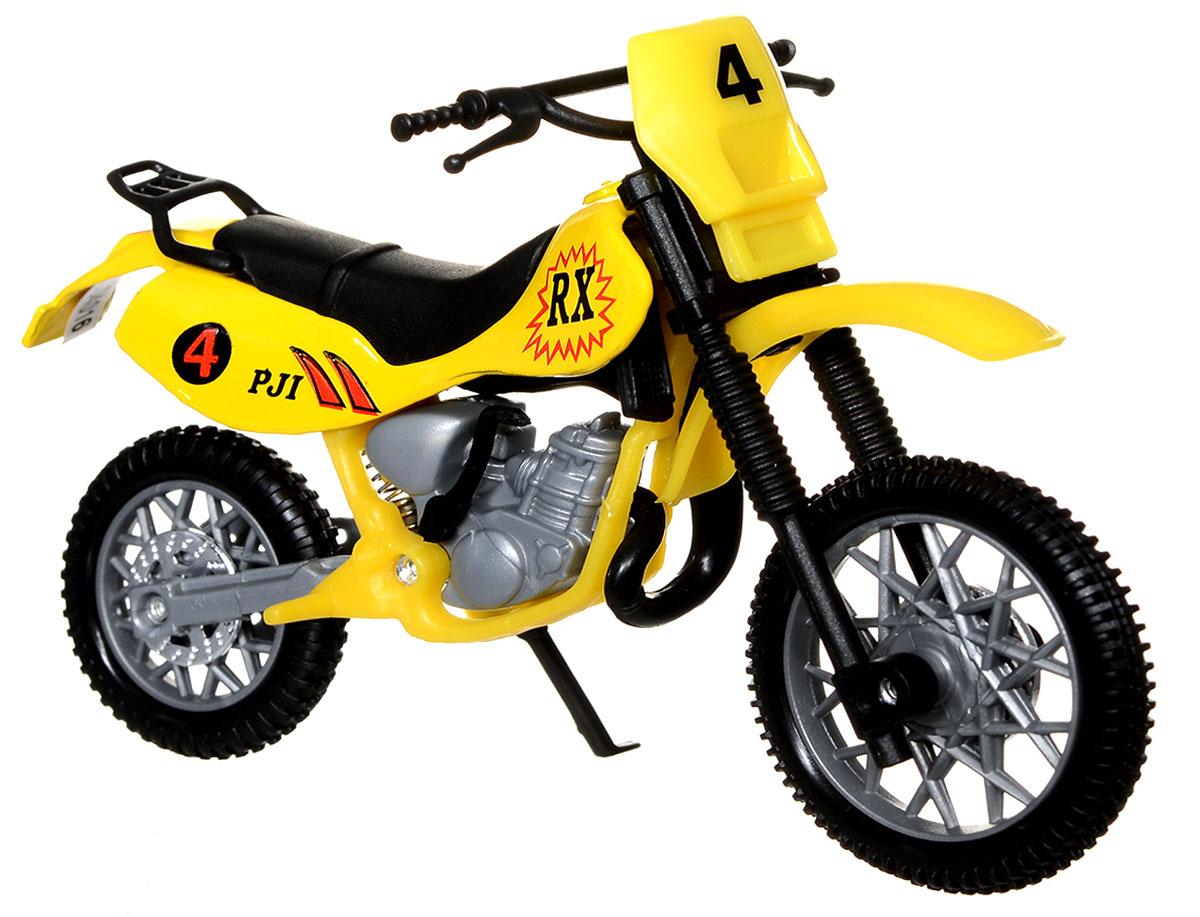 Dickie Toys Кроссовый мотоцикл цвет желтый3341004_желтыйТакой яркий кроссовый мотоцикл Dickie Toys понравится любому ребенку, который сможет с ним не только играть, но и сделать его частью своей коллекции техники. У игрушечного мотоцикла поворачивается руль, есть подставка, благодаря которой он может стоять, а также свободно вращающиеся резиновые колеса. Реалистичный мотоцикл, выполненный с вниманием к деталям, станет отличным дополнением к автопарку вашего малыша!