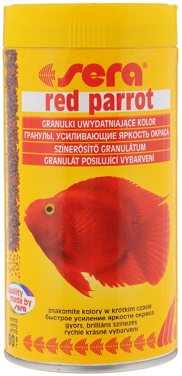 Корм Sera Red parrot, для рыб-попугаев, 80 г15979_новый дизайнПлавающий гранулированный корм Sera Red parrot специально разработан для рыб-попугаев. Тщательно подобранные ингредиенты корма бережно обработаны и хорошо сбалансированы, чтобы удовлетворить специфические потребности этих впечатляющих рыбок. Натуральные пигменты обеспечивают усиление яркости окраса в течение короткого периода времени. Товар сертифицирован.