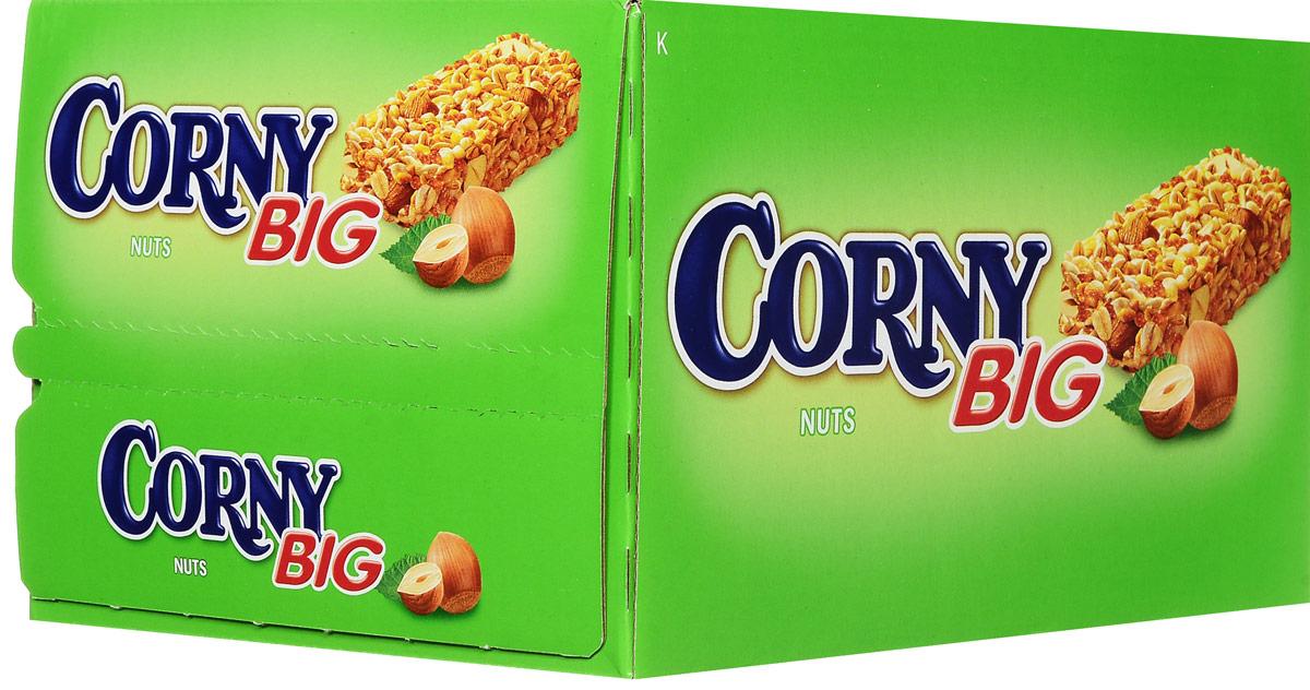 Corny полоска злаковая с лесными орехами, 24 штбзк006_24 штукиЗлаковые батончики Corny - вкусная и здоровая альтернатива традиционным снэкам - шоколадным плиткам, чипсам и булкам. Батончики сочетают в себе исключительную пользу и удобство. В их состав входят злаки, орехи, фрукты и шоколад. Разнообразие видов позволяет каждому выбрать батончик по своему вкусу. Медленные углеводы заряжают полезной энергией, а удобная форма и упаковка соответствуют быстрому ритму жизни. Уважаемые клиенты! Обращаем ваше внимание, что полный перечень состава продукта представлен на дополнительном изображении.