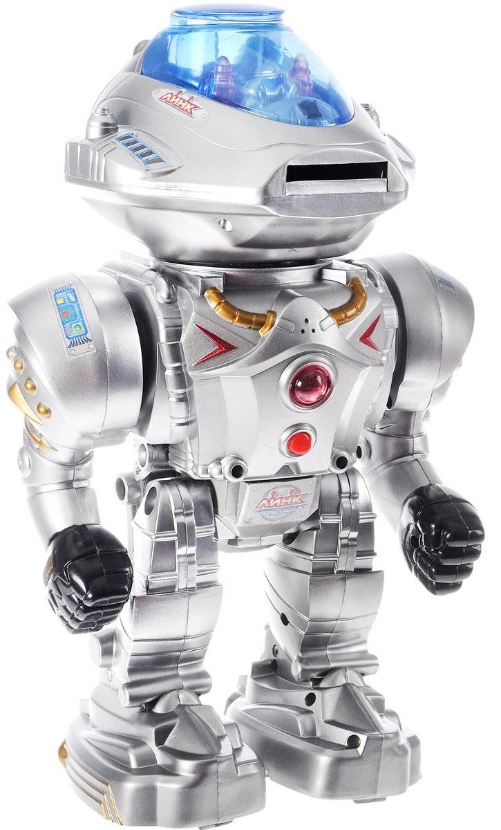 Играем вместе Интерактивный робот Линк на инфракрасном управленииA224-H05056-RИнтерактивный робот Играем вместе Линк на инфракрасном управлении поразит детей не только своей фантастической внешностью, создающей впечатление, что он только что сошел с экрана захватывающего фильма о будущем, но и интерактивными возможностями, а также стрельбой мягкими дисками. Теперь ребенок сможет разыграть в детской увлекательный сюжет игры, в котором этот робот станет главным действующим лицом. При этом дети значительно улучшат воображение, а также разовьют координацию движений и моторику рук. В комплекте с роботом предусмотрен пульт для управления его функциями и действиями, а также есть возможность управлять им голосовыми командами. Игрушка поражает своими интерактивными возможностями: она может говорить, танцевать и реалистично ходить. Робот оснащен мягкими цветными дисками, которыми он стреляет из специального отверстия на корпусе. Игрушка дополнена световыми индикаторами, которые при активации изделия начинают ярко мерцать. Робот изготовлен из прочных и безопасных...