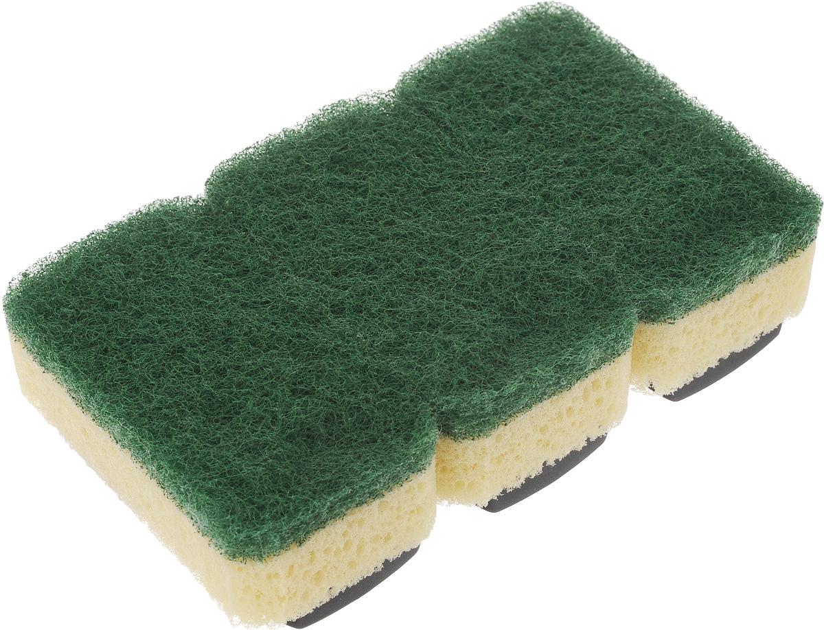 Губка Dishmatic Стандарт, сменная, 3 шт116-01-2904/4799Набор Dishmatic Стандарт предназначен для замены изношенных губок в изделиях бренда Dishmatic. Губка отлично очищает загрязнённые поверхности, а мягкий внутренний слой хорошо впитывает и вспенивает моющее средство. Губки изготовлены из переработанных материалов. Они позволяют позаботиться не только о чистоте в доме, но и о природе. Размер одной губки: 7,6 х 4,2 х 2,4 см.